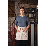 Southside X-Cross Back Apron Denim Blue Tan Ties